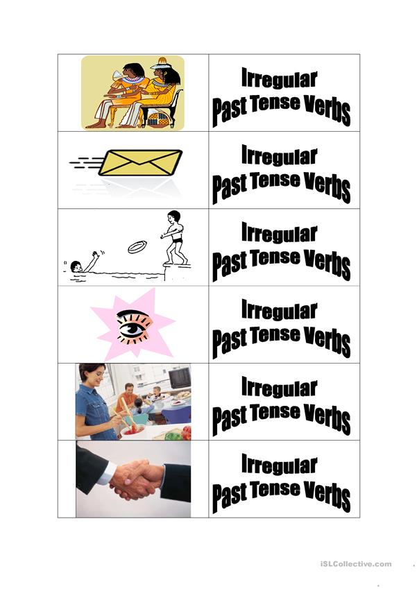 irregular past tense verbs flashcards