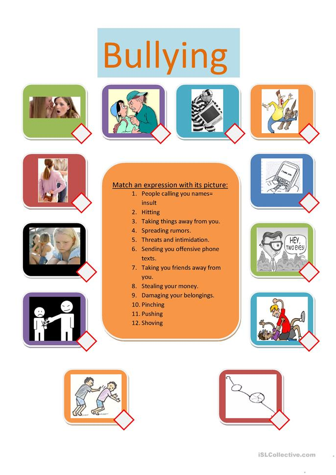 Printables Bullying Worksheets 38 free esl bullying worksheets bullying