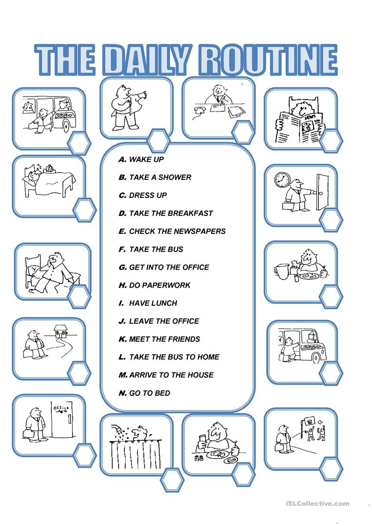 Worksheets Daily Schedule Worksheet daily routine worksheet free esl printable worksheets made by full screen