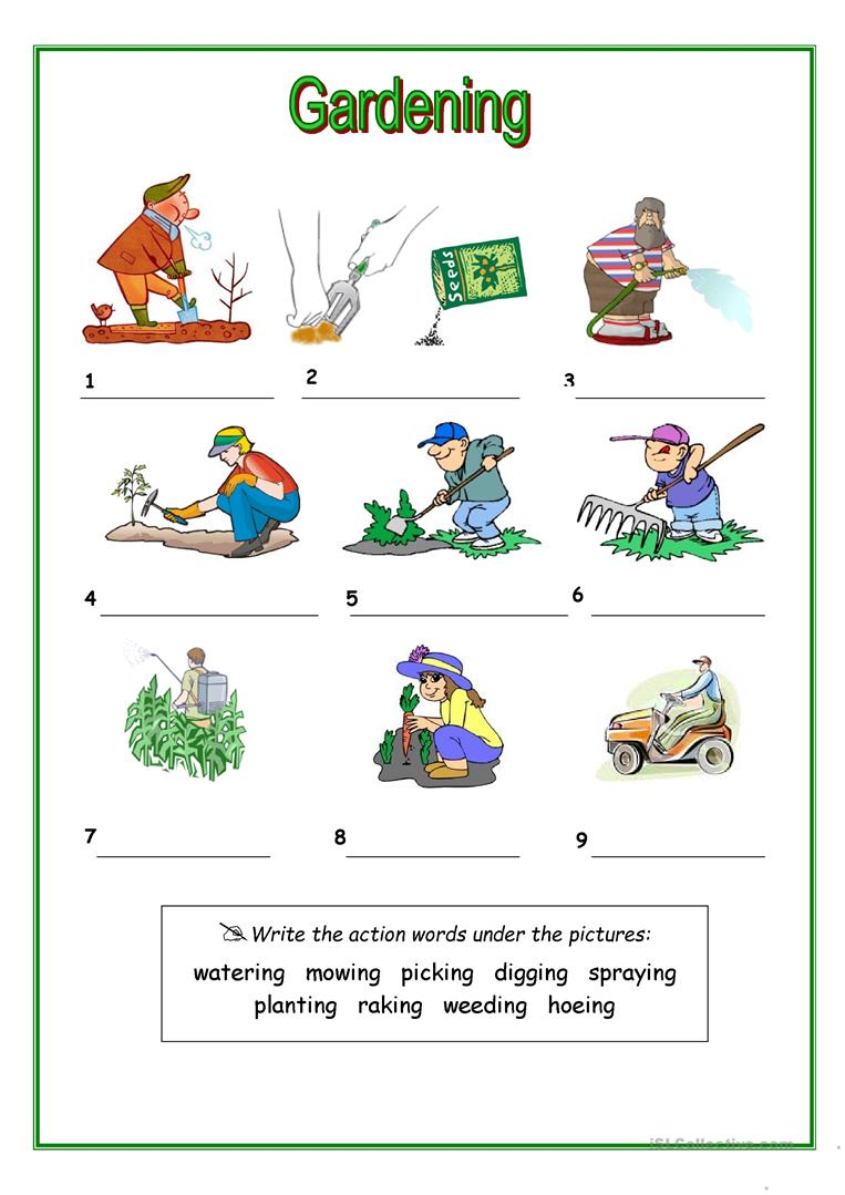 Worksheets Horticulture Worksheets 14 free esl gardening worksheets