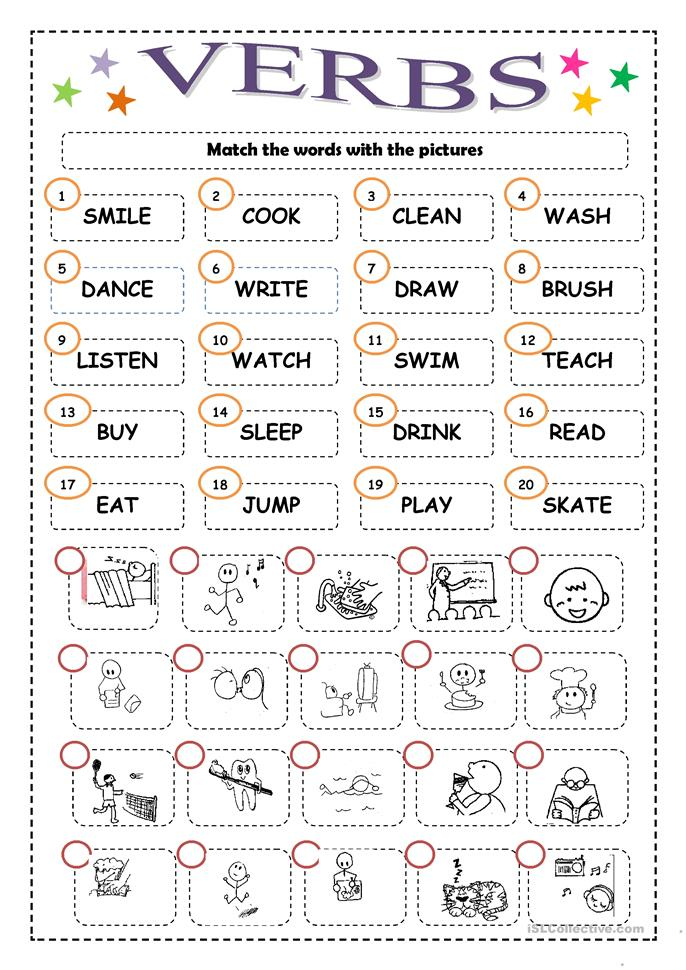 VERBS - ESL worksheets