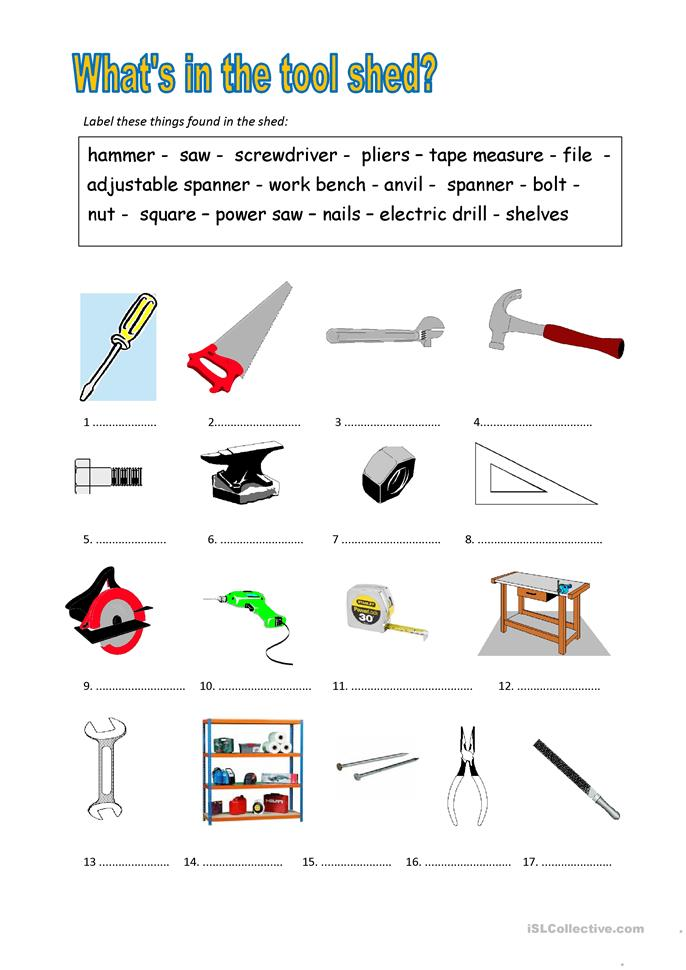 Tools Worksheet - Rringband