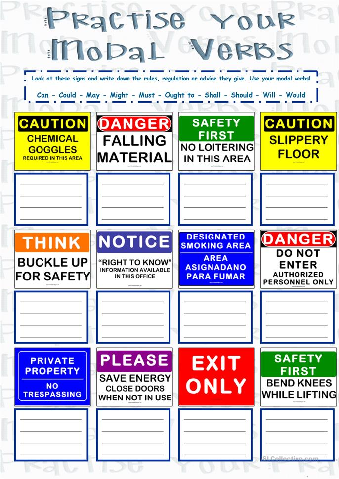 Practise Your MODAL VERBS - Writing worksheet - Free ESL printable ...