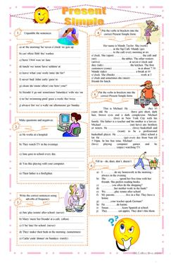 3135 Free Esl Present Simple Tense Worksheets
