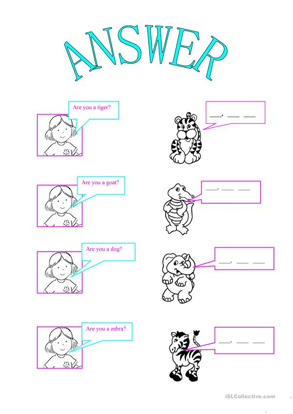 ANSWER QUESTIONS- VERB ¨TO BE¨