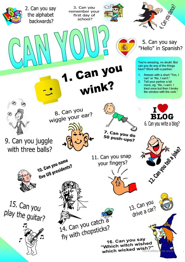 Can you? (Ability: Questions & Answers Set 2.))