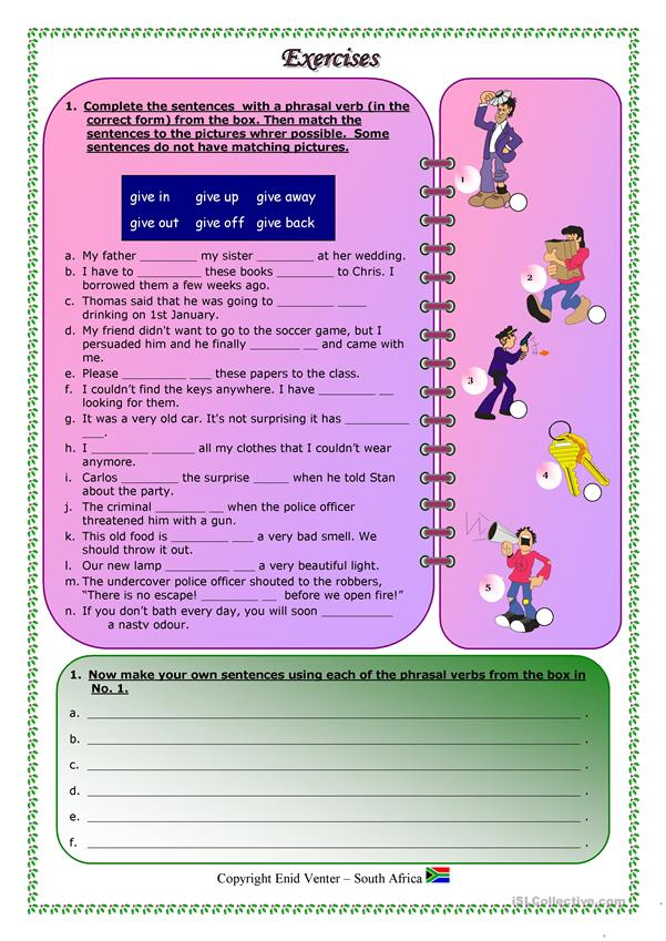 Phrasal Verbs - particularly with 'GIVE' : Part 1