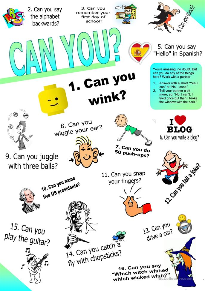 Can you? (Ability: Questions & Answers Set 2.)) - ESL worksheets