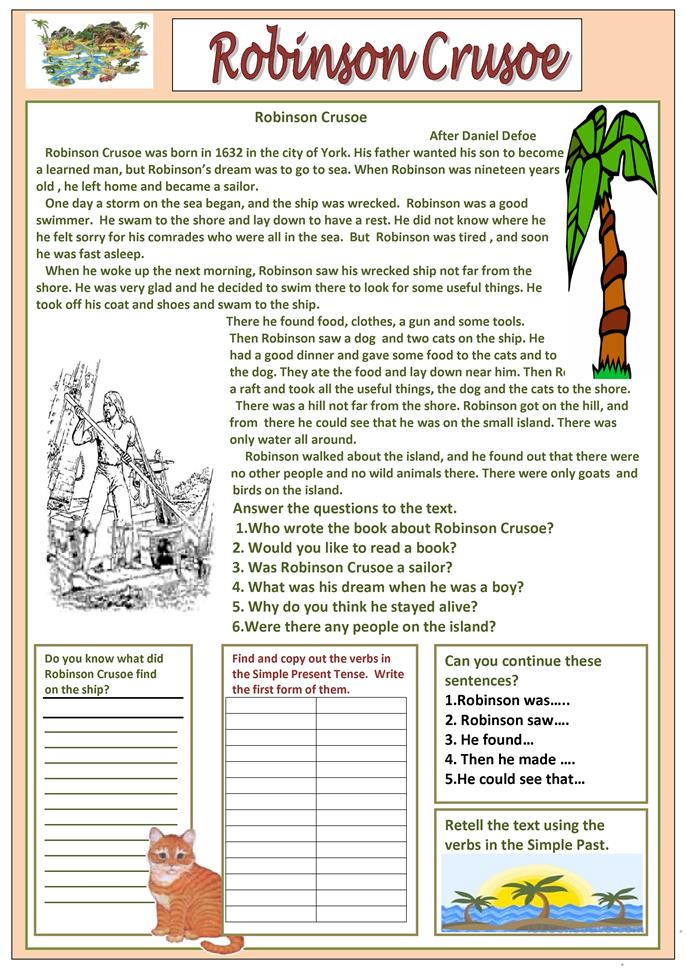 the book report of robinson crusoe The book was first published on april 25, 1719 its full title was the life and  strange surprizing adventures of robinson crusoe of york,.