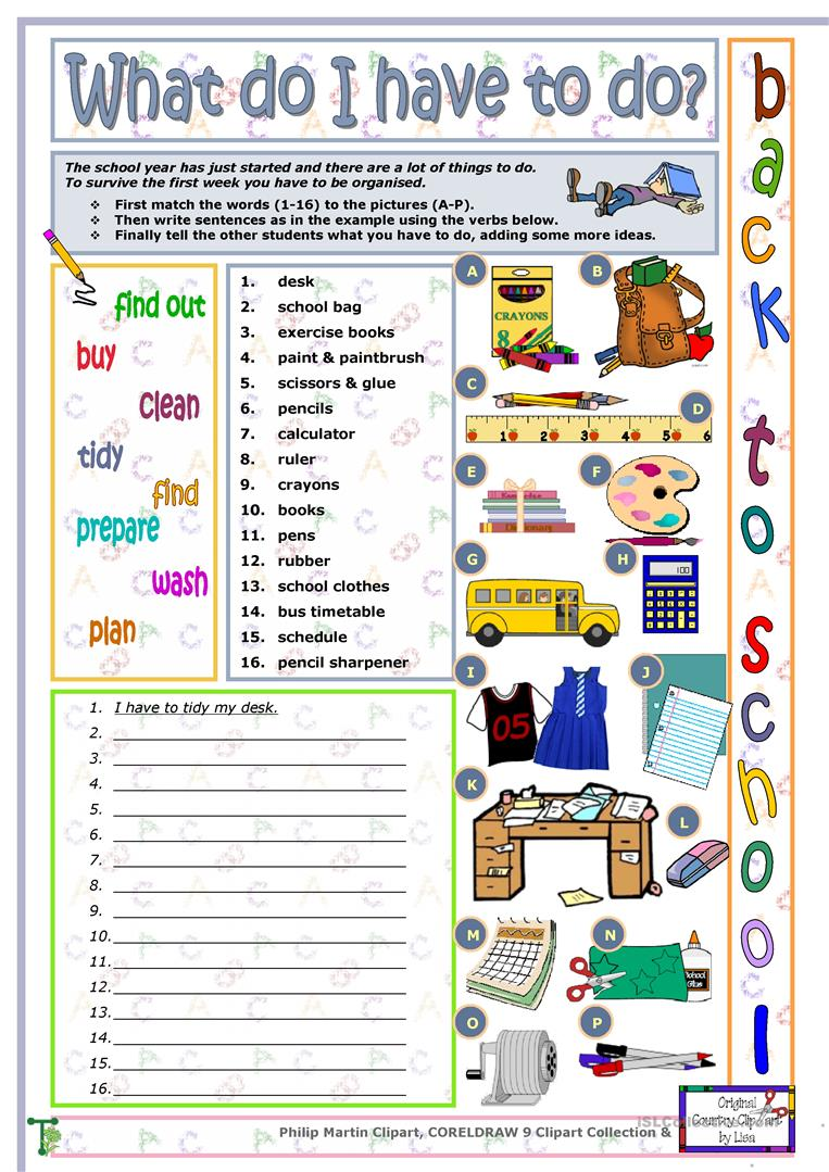 School Worksheets For Teachers : Back to school worksheet free esl printable worksheets