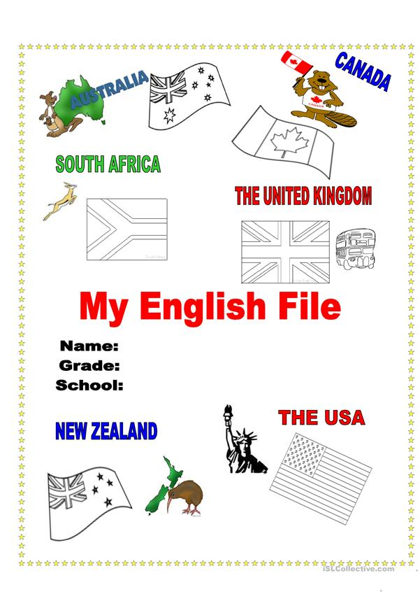 My English File Cover