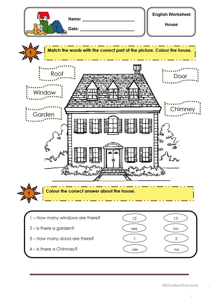 parts of the house worksheet - Free ESL printable worksheets made by ...