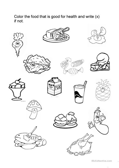 food good for health worksheet - Free ESL printable worksheets made ...