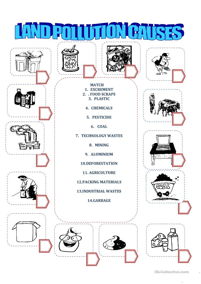 land pollution worksheet free esl printable worksheets made by teachers. Black Bedroom Furniture Sets. Home Design Ideas