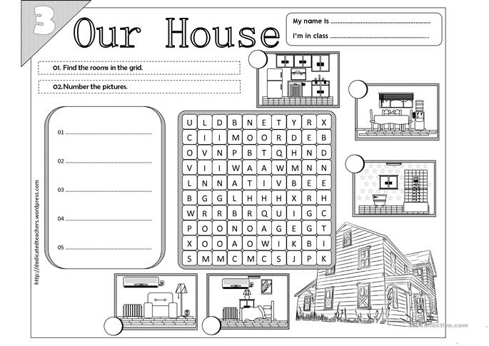 Our House - 03 worksheet - Free ESL printable worksheets made by teachers