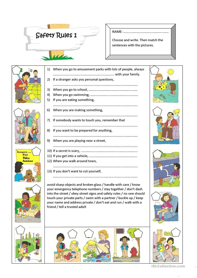 math worksheet : 16 free esl zero conditional worksheets : Safety Worksheets For Kindergarten