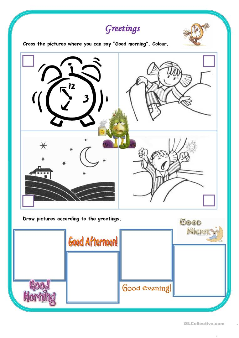 good morning - English ESL Worksheets