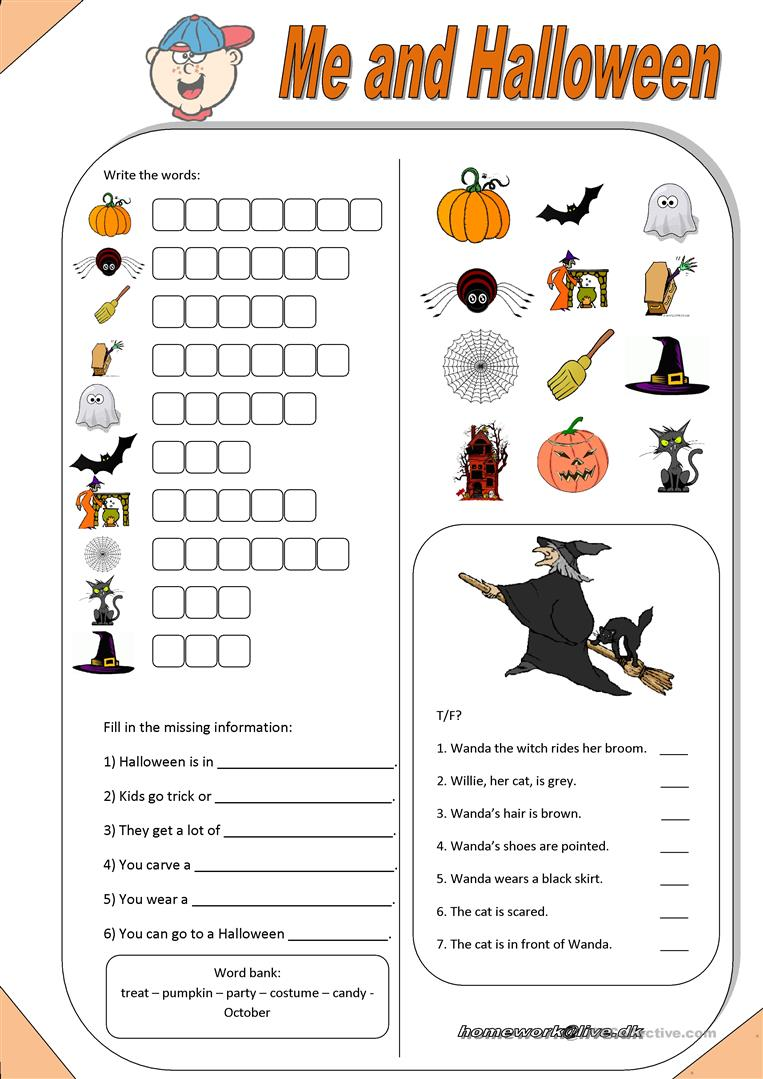 460 FREE ESL Halloween worksheets – Halloween Reading Worksheets