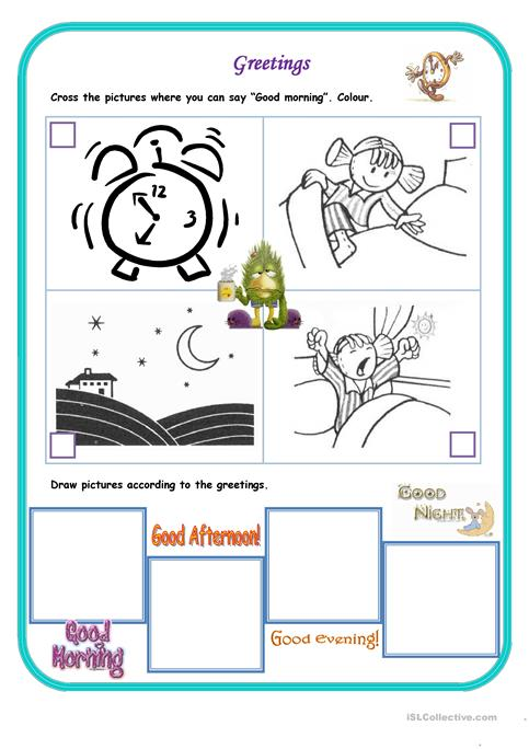 Morning worksheets kidz activities good morning worksheet free esl printable worksheets made by teachers m4hsunfo