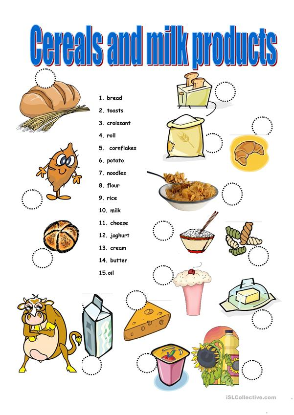Cereals and milk products