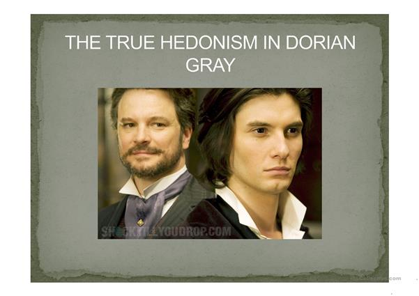 HEDONISM IN DORIAN GRAY