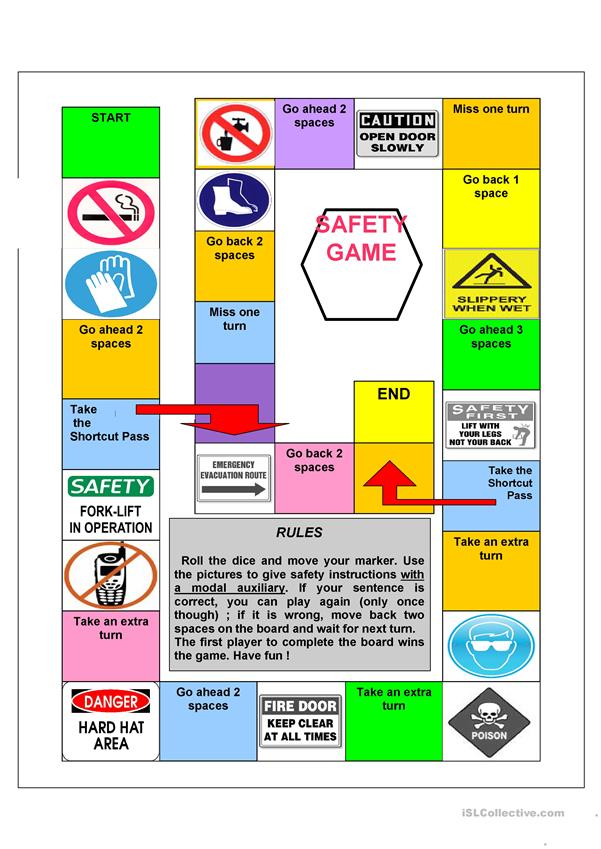 Safety signs gameboard