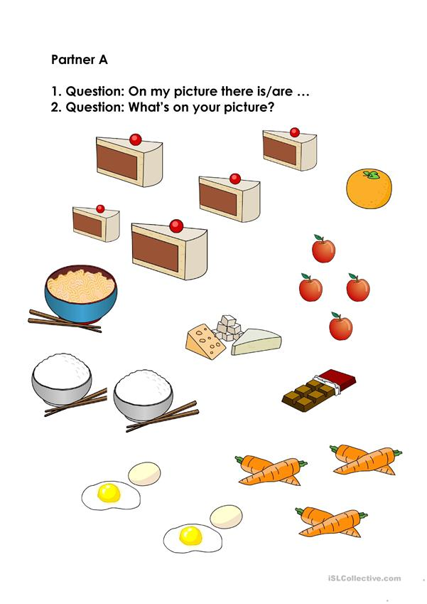 Speaking Activity on food (A)