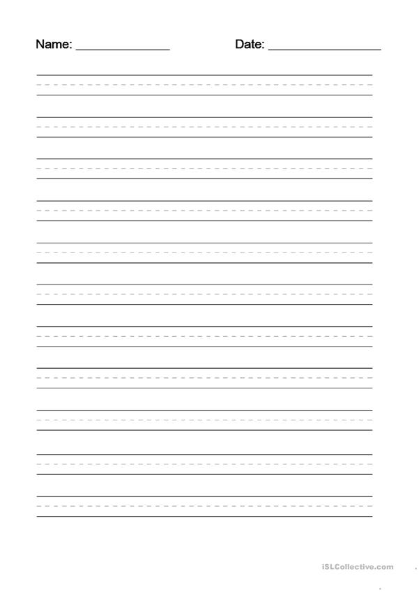 Writing dotted line template