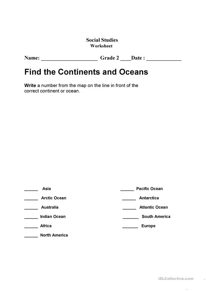 All Worksheets Continents And Oceans Worksheets Free Printable – Continents and Oceans Worksheets
