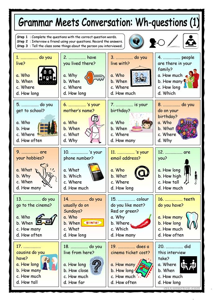 Grammar Meets Conversa... - ESL worksheets