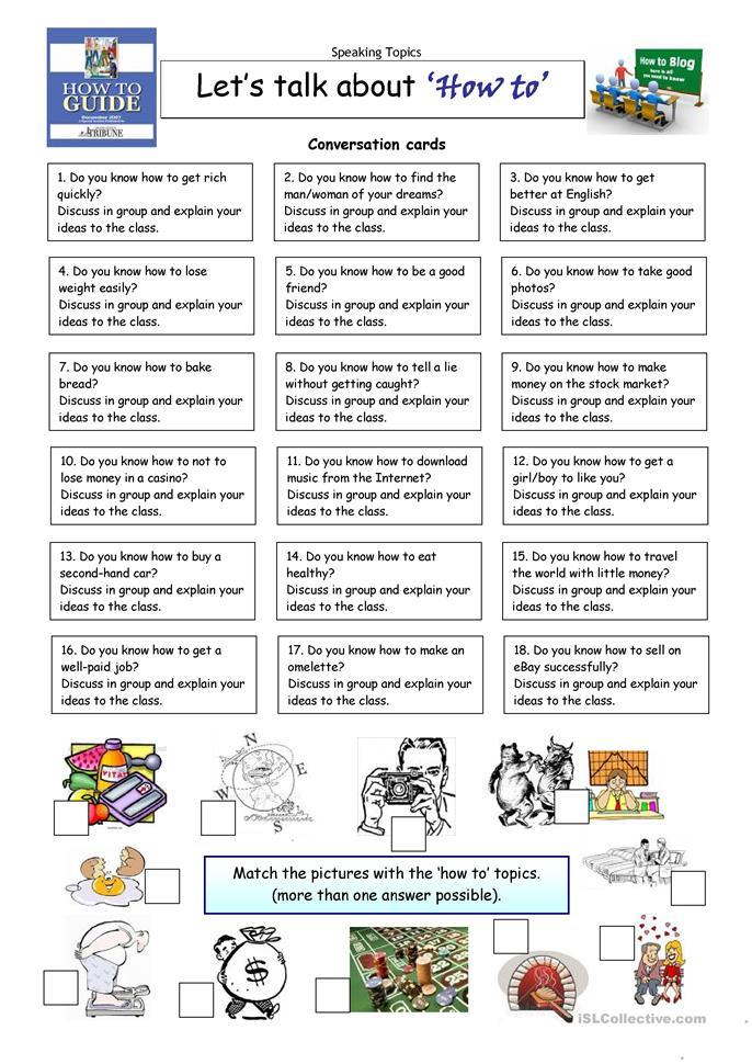 Esl conversation worksheets for adults pdf