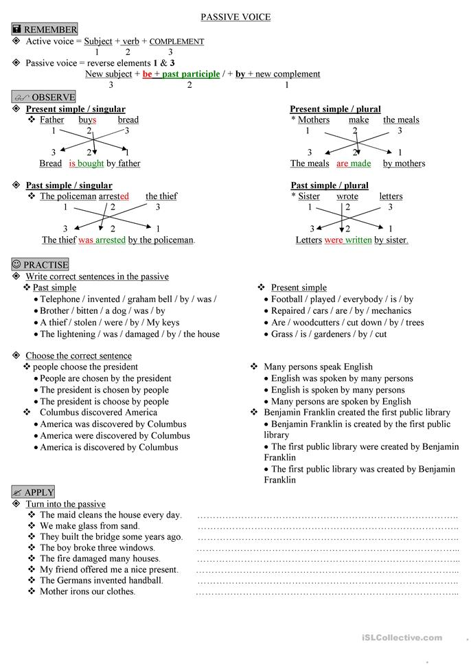 PASSIVE VOICE - ESL worksheets