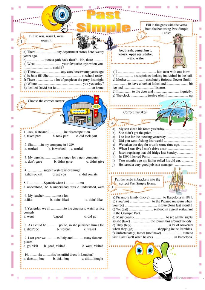 Past Simple exercises worksheet - Free ESL printable ...