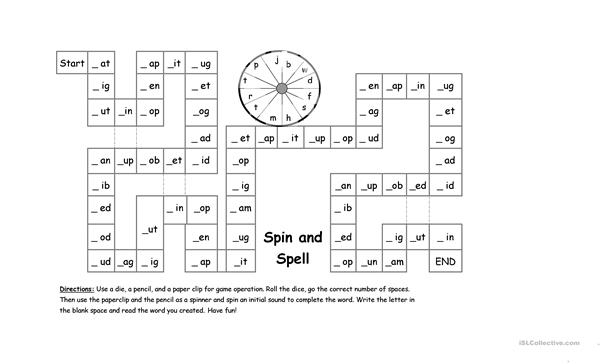 phonic spin and spell worksheet free esl printable worksheets made by teachers. Black Bedroom Furniture Sets. Home Design Ideas