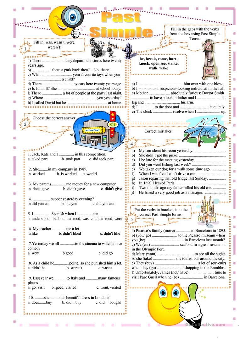 70 000 Free ESL EFL worksheets made by teachers for teachers – Simple Past Tense Worksheets