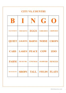 Country Bingo