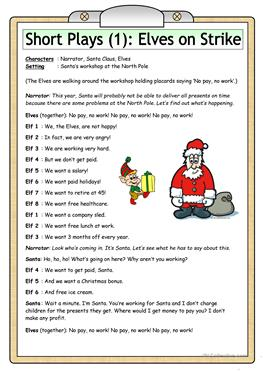English ESL christmas play worksheets - Most downloaded (11 Results)