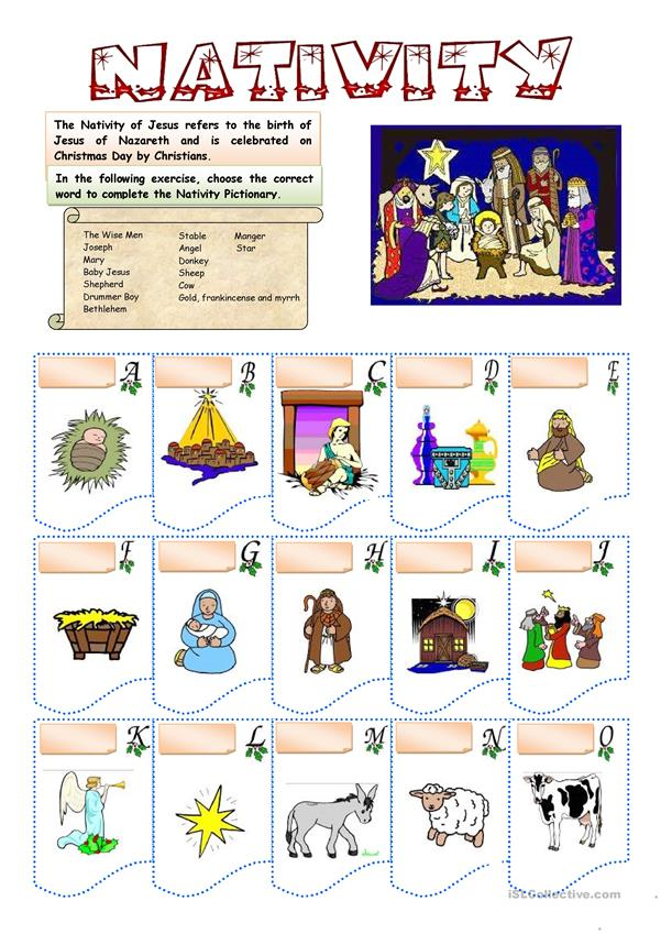 CHRISTMAS - NATIVITY VOCABULARY