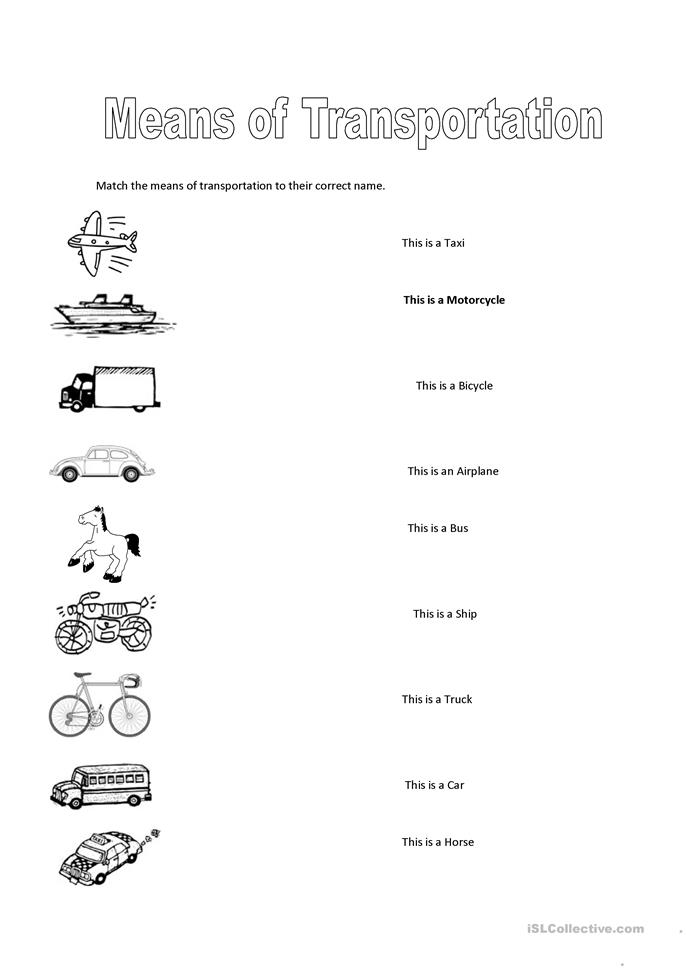 Printables Transportation Worksheets 75 free esl transportation worksheets means of transportation