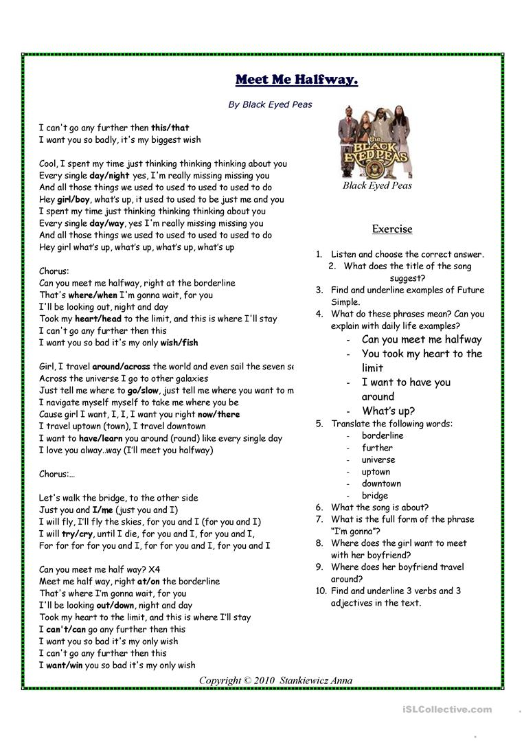 how to make a song worksheet