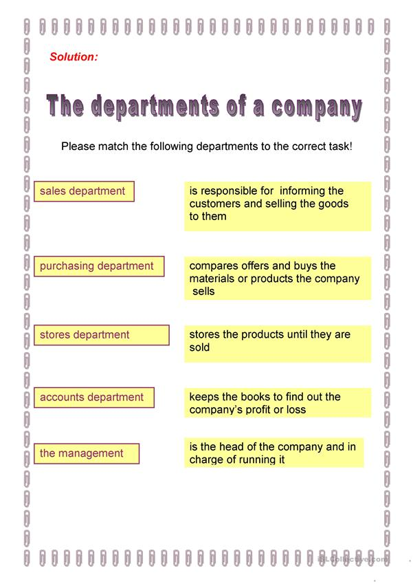 company departments