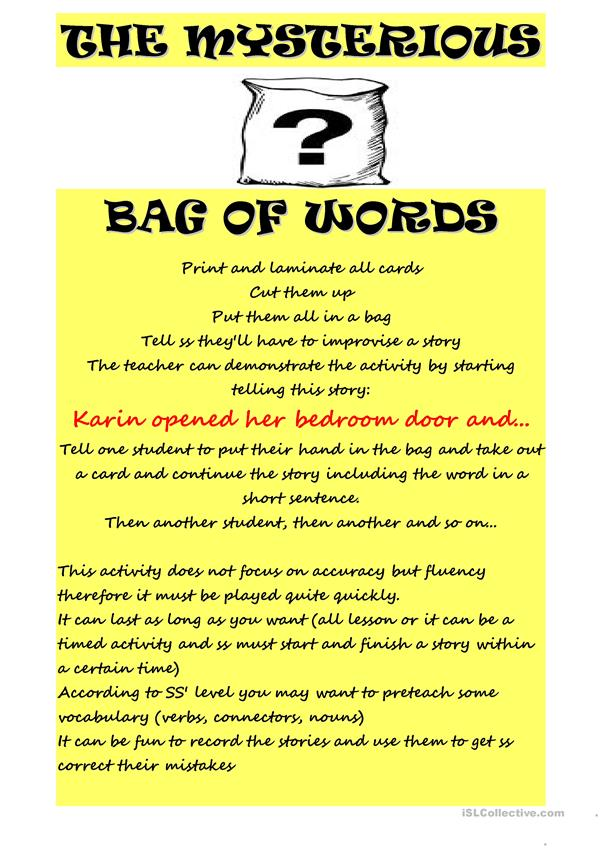 MYSTERYOUS BAG OF WORDS