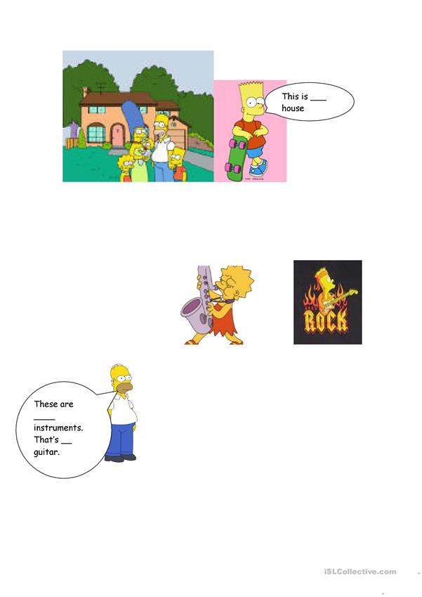 Possesive adjectives and The Simpsons