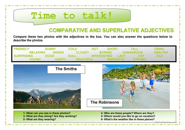 Time to talk (1)- Comparatives and superlatives