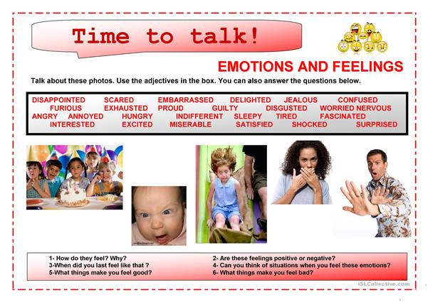 Time to talk (2)- Emotions and feelings