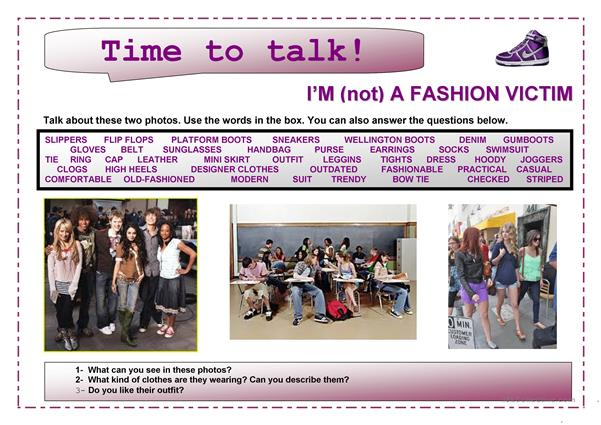 Time to talk (4)- I'm not a fashion victim