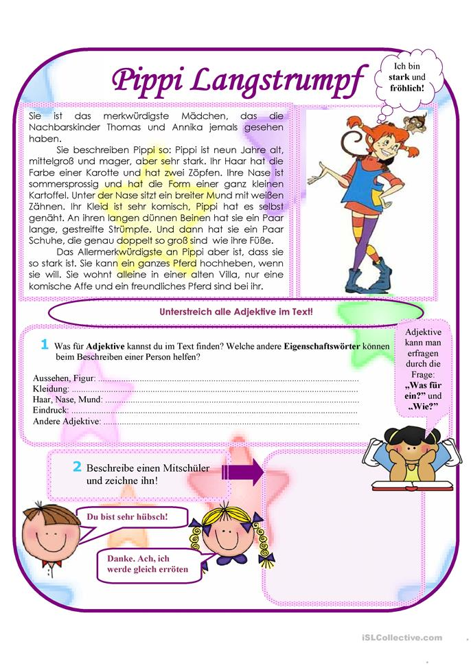 Pippi Langstrumpf - ESL worksheets