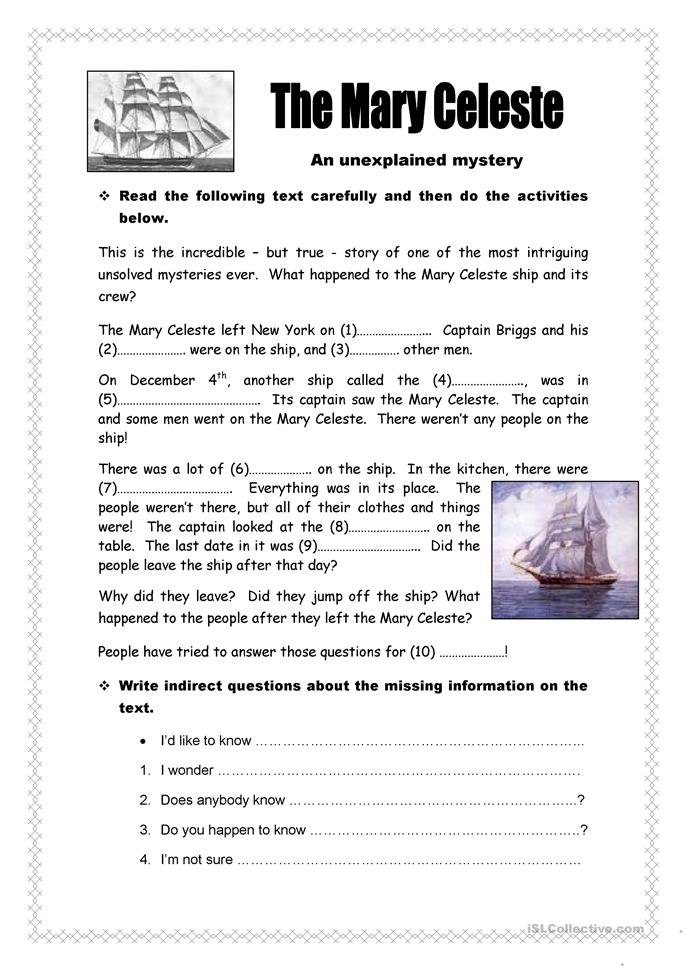 Mystery Worksheets - Davezan