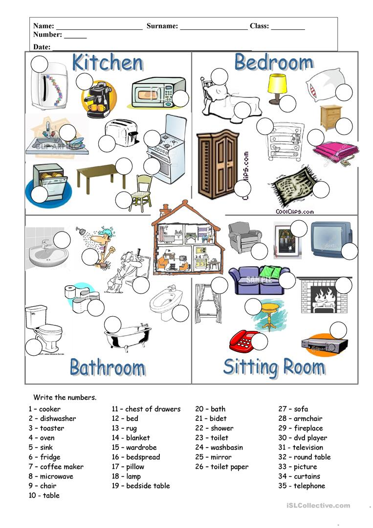 Rooms And Furnitures Esl