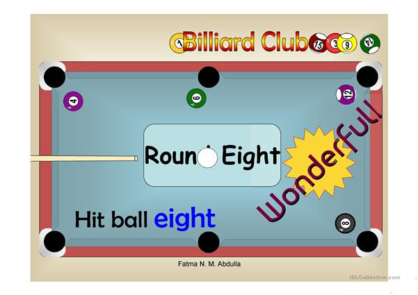 Billiard Club - Numbers 1-15